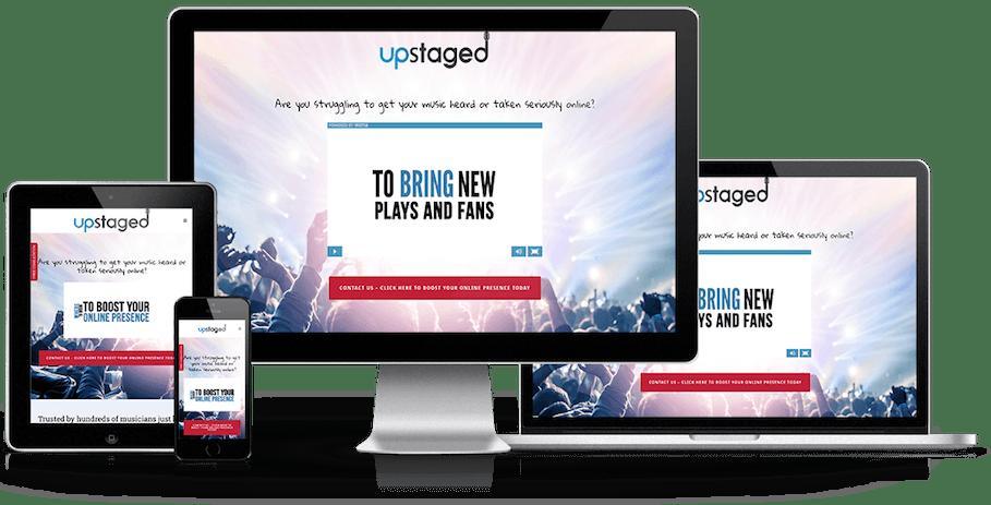 upstaged design london website